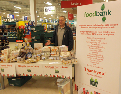 Food Bank donations at Tesco